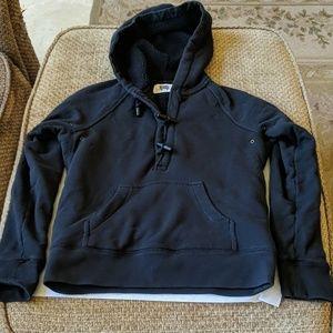 J.Crew Black Vintage Fleece Hooded Sweatshirt